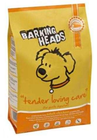 Barking Heads Tender Loving Care - Sausas maistas mažų ir vidutinių veislių šunims švelniam virškinimui su vištiena (2kg.)