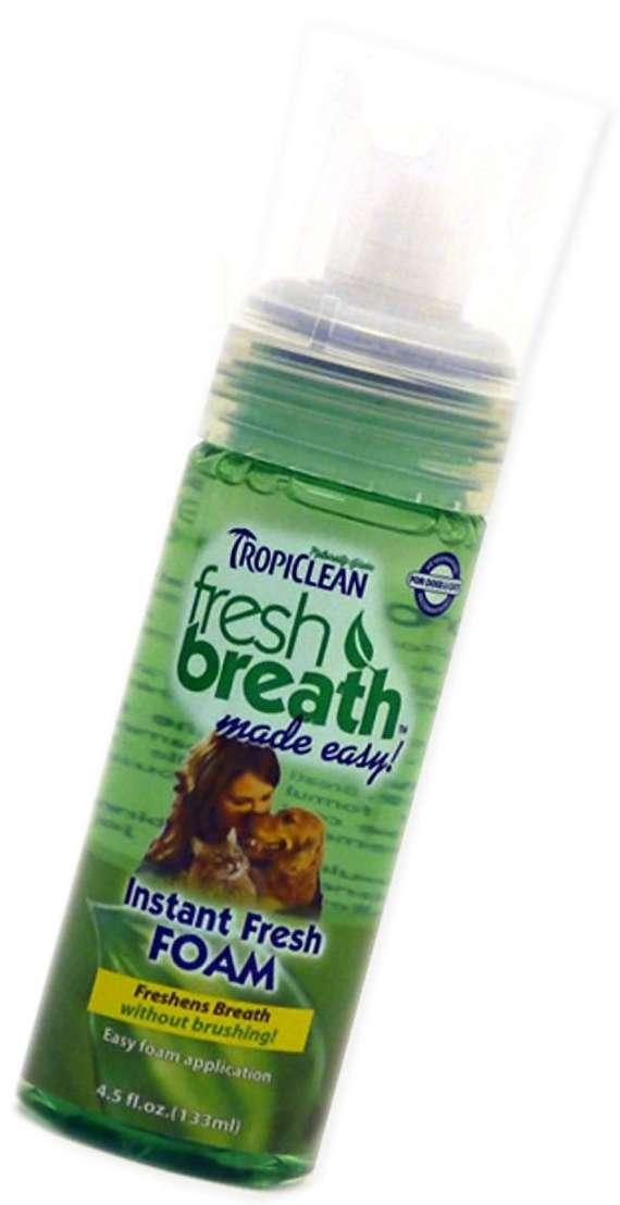 Tropiclean Instant Fresh Foam (133ml.) - Tropiclean dantų ir burnos priežiūra šunims ir katėms. Gaiviam kvėpavimui (133ml.)