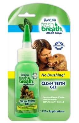 Tropiclean Clean Teeth Gel (59ml.) - Tropiclean dantų ir burnos priežiūra šunims ir katėms. Dantų gelis (59ml.)