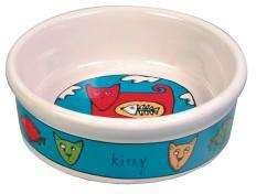 Trixie - Dubenėliai katėms. Kačių keramikinis dubenėlis su piešinėliais 200ml./11cm.