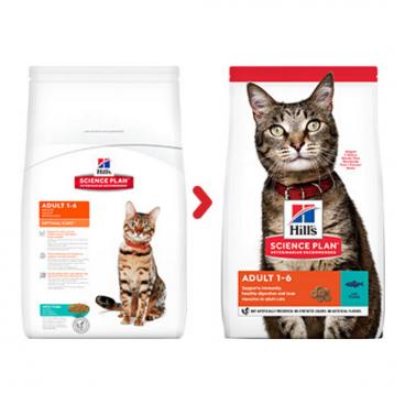 sausas maistas katėms - kačiu pašaras - kačiu ėdalas su tunu