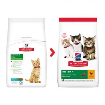 sausas maistas katėms - kačiu pašaras - sausas maistas kačiukams su vištiena