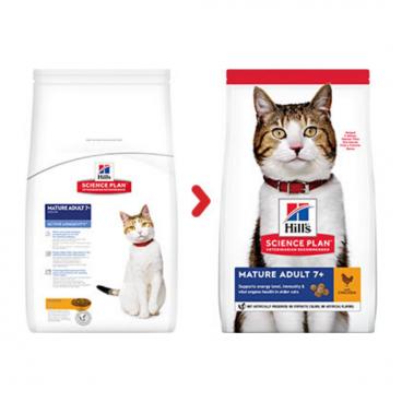 sausas maistas katėms - kačiu pašaras - maistas suaugusioms katėms su vištiena