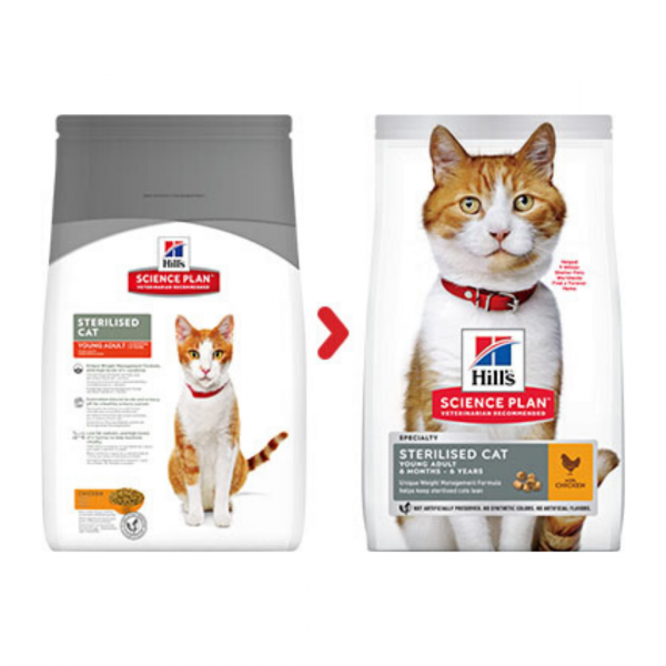 sausas maistas katėms - kačiu pašaras - maistas sterilizuotoms katėms su vištiena