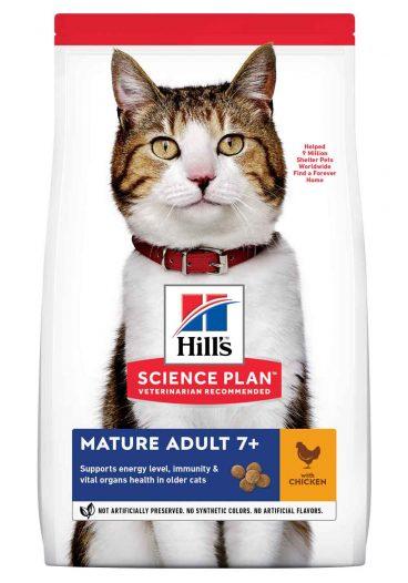 Hill's Science Plan Mature Adult - Hill's sausas maistas katems - kačiu sausas maistas su vištiena