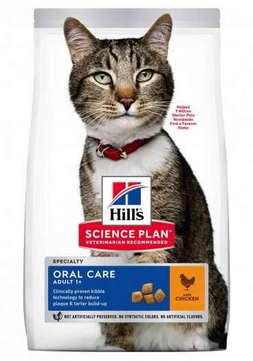 Hill's sausas maistas katems - pašaras katėms - sausas maistas nuo dantu apnasu katei