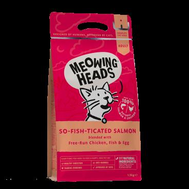 MEOWING HEADS So-Fish-Ticated Salmon - sausas maistas katėms - sausas maistas katei su lašiša