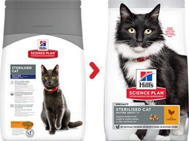 Hill's sausas maistas katems - pašaras katėms - sausas maistas sterilizuotoms katėms su vištiena