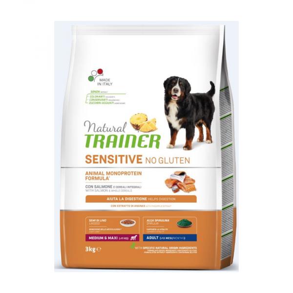 sausas maistas šunims - Trainer pašaras šunims - sausas maistas šunims su lašiša be gliuteno
