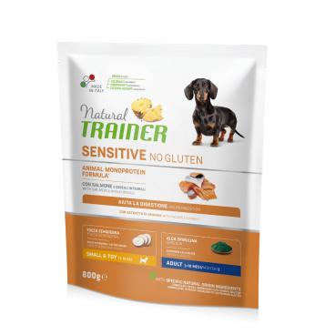 susas maistas šunims - Natural Trainer pašaras šunims - pašaras šunims su lašiša