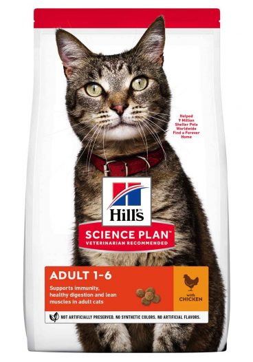 sausas maistas katėms - kačiu pašaras - ėdalas katėms su vištiena