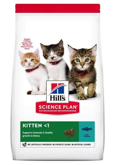 sausas maistas katėms - kačiu pašaras - ėdalas su tunu kačiukams
