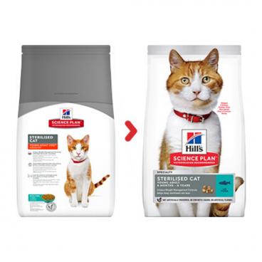 sausas maistas katems - suaugusioms katėms su tunu - pašaras katėms su tunu