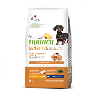 sausas maistas šunims - Natural Trainer pašaras šunims - sausas maistas šunims su lašiša be gliuteno
