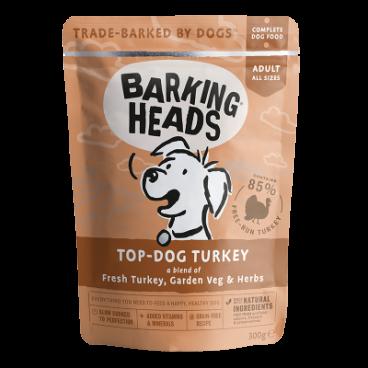 BARKING HEADS Top Dog Turkey - BARKING HEADS konservai šunims su kalakutiena - konservai šunims su kalakutiena