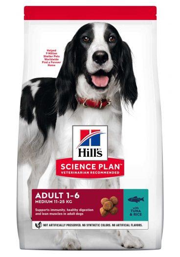 Hill's sausas maistas šunims - ėdalas šunims su tunu ir ryžiais - sausas maistas šunims su tunu ir ryžiais