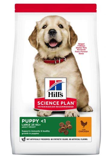 Hill's sausas maistas šunims - ėdalas šuniukams su vištiena - sausas maistas šunims su vištiena