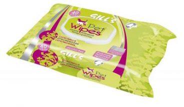 GILL'S Pet Wipes - Servetėlės Augintiniams Su Citrinžole - Drėgnos servetėlės šunims ir katėms