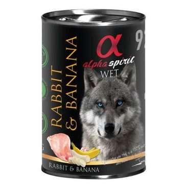 ALPHA SPIRIT WET Konservas Šunims - konservai šunims su triušiena ir bananais - konservai šunims