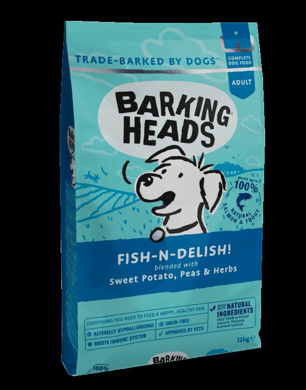 sausas maistas sunims - barking heads dog - sausas maistas sunims su zuvim