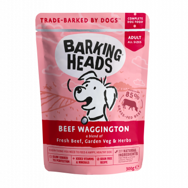 BARKING HEADS Beef Wagginkton - BARKING HEADS konservai šunims su jautiena - konservai šunims su jautiena