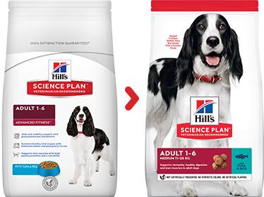Hill's sausas maistas šunims - ėdalas šunims su tunu- sausas maistas šunims su tunu