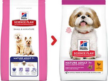 Hill's Sience Plan Small & Mini Mature Adult 7- sausas maistas šunims su vištiena - Hill's sausas maistas šunims