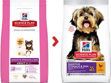 Hill's Sience su vištiena jautram skrandžiui - sausas maistas šunims su vištiena - Hill's sausas maistas šunims
