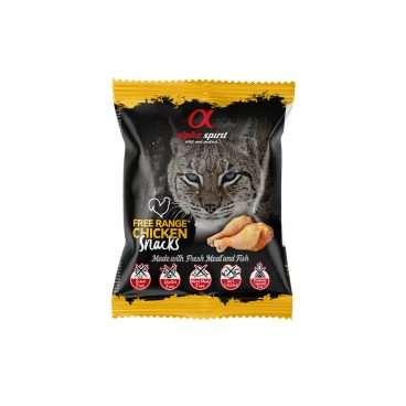 ALPHA SPIRIT SNACKS CAT - Skanėstai Katėms Su Vištiena - Skanėstai katėms