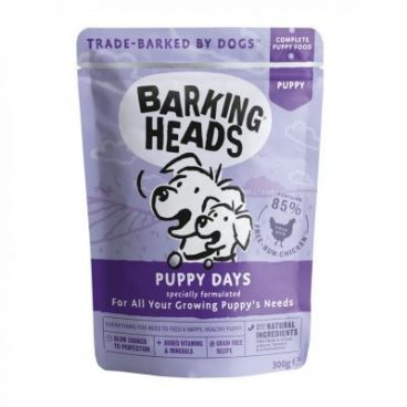 BARKING HEADS Puppy Days - BARKING HEADS konservai mažiems šuniukams su vištiena - konservai šuniukams su vištiena