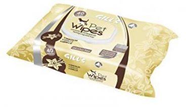 GILL'S Pet Wipes - Servetėlės Augintiniams Su Vanile - Drėgnos servetėlės šunims ir katėms