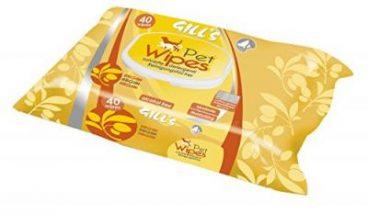 GILL'S Pet Wipes - Servetėlės Augintiniams Su Argano Aliejumi - Drėgnos servetėlės šunims ir katėms