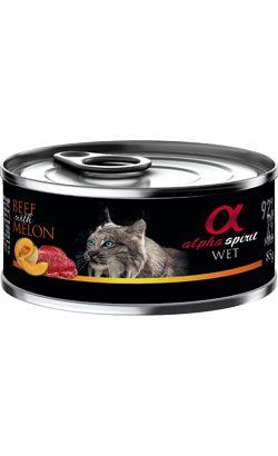ALPHA SPIRIT WET - konservai katėms su jautiena ir melionais - šlapias maistas katėms