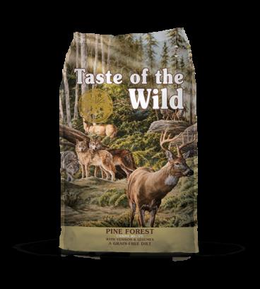 61329 TASTE OF THE WILD Pine Forest - ASTE OF THE WILD Sausas Maistas Šunims - Sausas Maistas Šunims su Ėriena ir Elniena