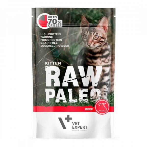 Raw Paleo Cat Adult Beef - Guliašas Kačiukams su Jautiena - Guliašas Katėms
