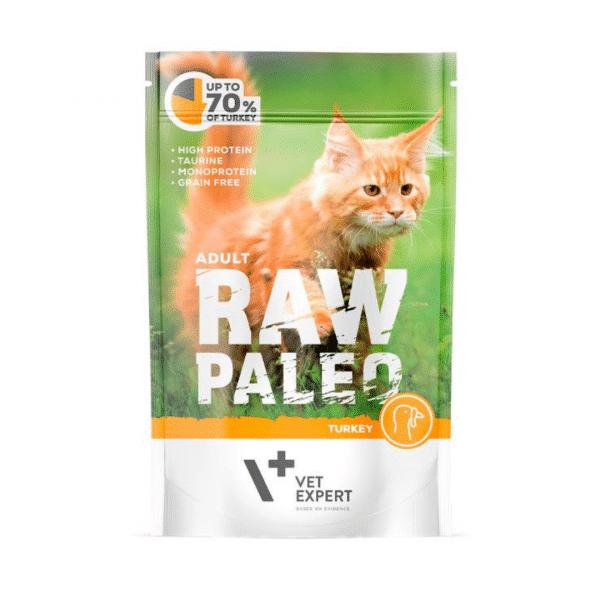 Raw Paleo Cat Adult Beef - Guliašas Vyresnio Amžiaus Katėms su Kalakutiena - Guliašas Katėms