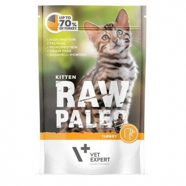 Raw Paleo Cat Adult Beef - Guliašas Katėms su Kalakutiena - Guliašas Katėms