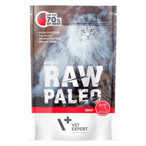Raw Paleo Cat Adult Beef - Guliašas Katėms su Jautiena - Guliašas Katėms