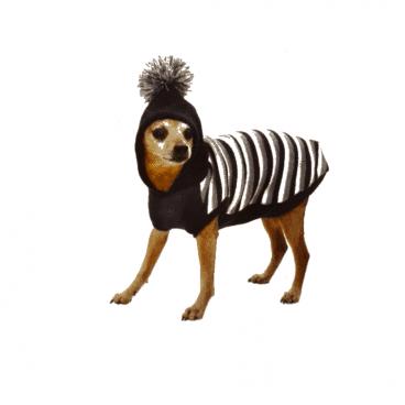 C7174411 Croci Sheepskin - rūbai šunims - žiemos megztinis su gobtuvu šunims