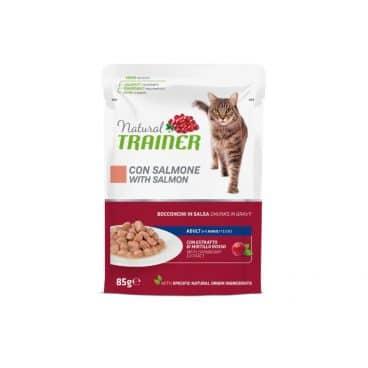 925714 Natural trainer katėms - guliašas katėms su lašiša - konservai katėms su lašiša