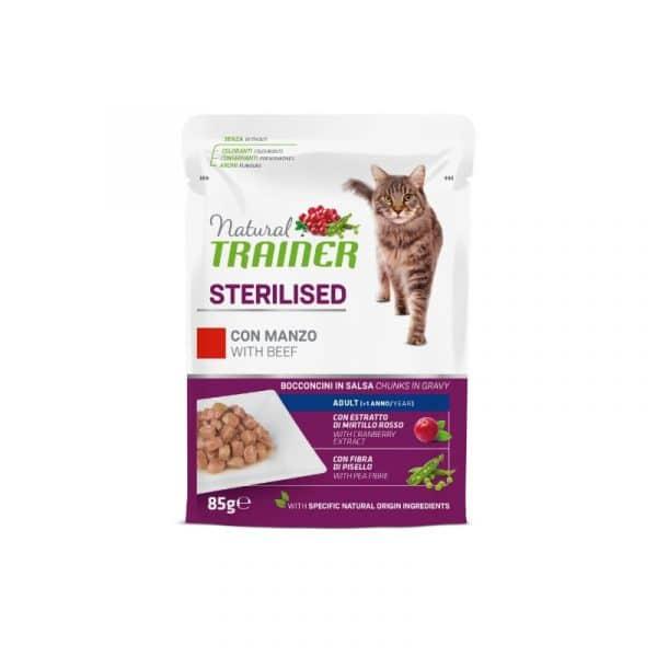 925722 Natural Trainer konservai katems - guliašas katėms - guliašas katėms su jautiena