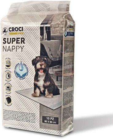 C6OI0012 CROCI SUPER NAPPY Higieniniai Paklotai šunims - sugeriamasis kilimėlis šunims