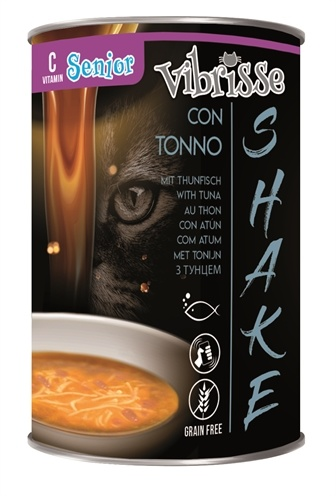 VIBRISSE Shake - Kokteilis Senoms Katėms Su Tunu - guliašas senoms katėms