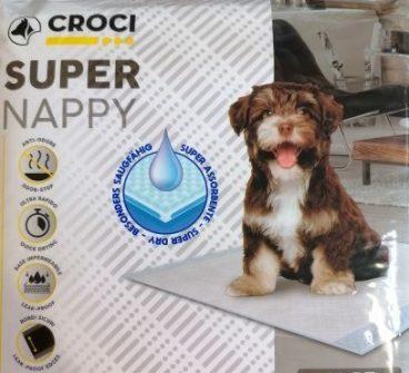 super nappy - CROCI SUPER NAPPY - Higieniniai Paklotai - sugeriamasis kilimėlis šunims